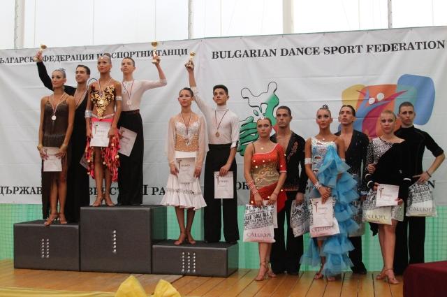 Шампиони на България по спортни танци за 2013 г. Александър Георгиев и Венцислава Бормалийска
